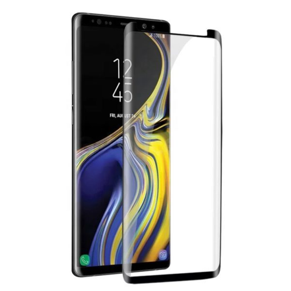 Samsung Galaxy S9 PLUS with this curved glass screen protector